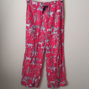 Victoria's Secret Red Tiger Pajama Pants, Small